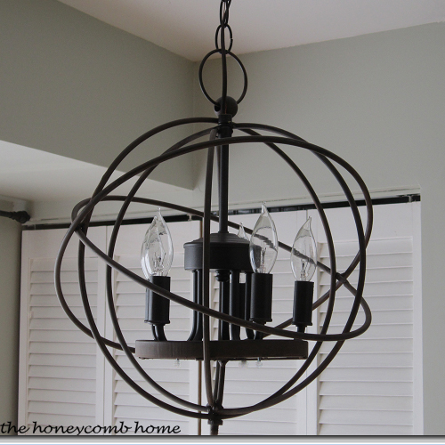 Knock off restoration hardware chandelier rh chandelier cost 69500 for the small one my version cost 2700 i have seen other versions of this orb at marshalls and tj maxx aloadofball Choice Image
