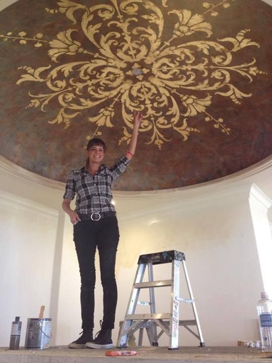 Ceiling designs for Ceiling mural painting techniques