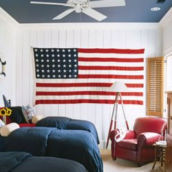 Red White and Blue Decor | the Honeycomb Home