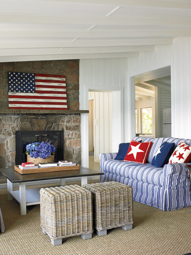 Red white and blue decor archives the honeycomb home for American bedrooms