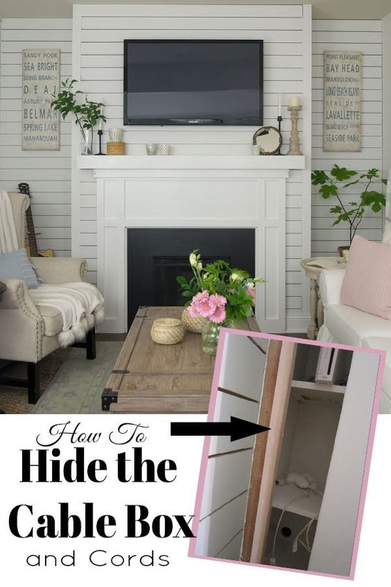A step by step guide showing you how to hide the cable box for a clean look under the TV. It's easier to do than you might think!