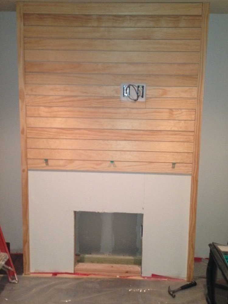 adding a custom built electric fireplace
