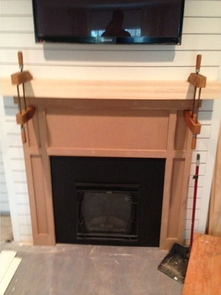 building a custom mantel and electric fireplace