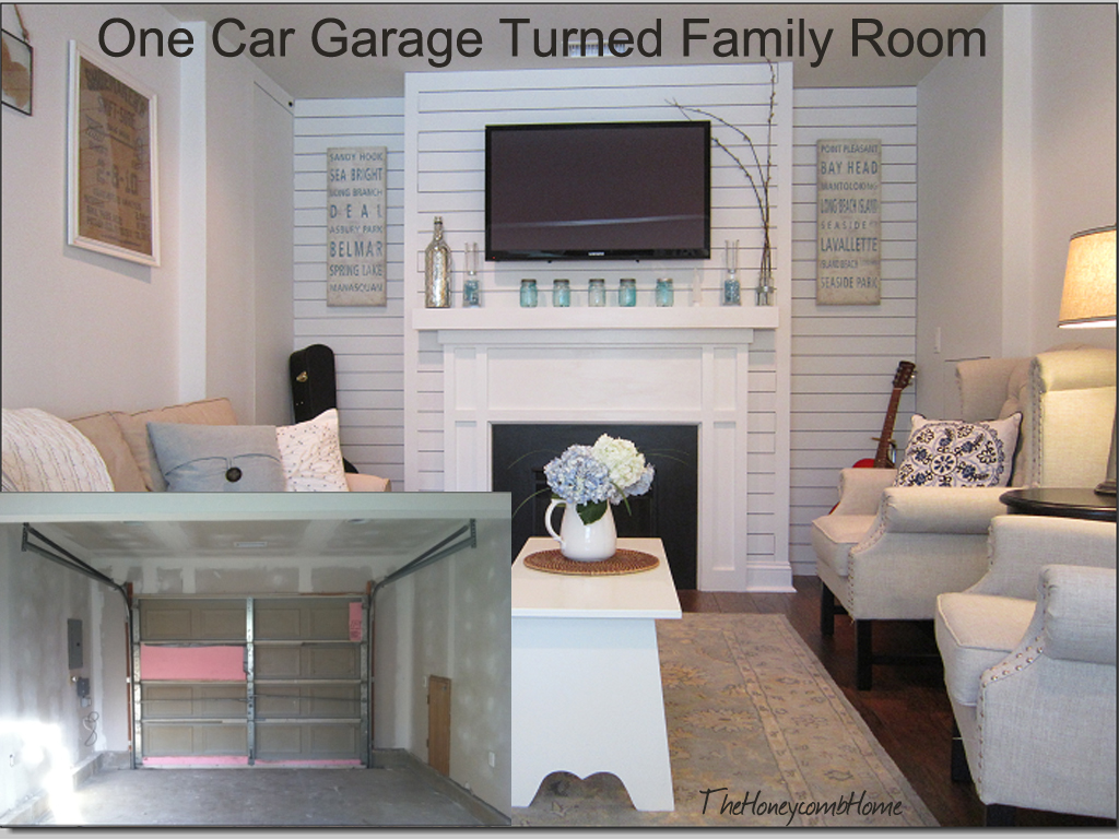 converted one car garage