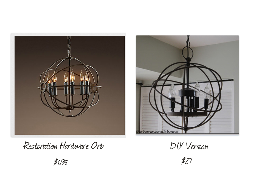 Elegant Restoration Hardware Knockoff Chandelier