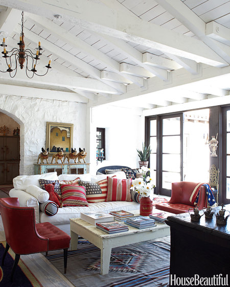 Family Living Room Design Ideas That Will Keep Everyone Happy: Red, White, And Blue Rooms