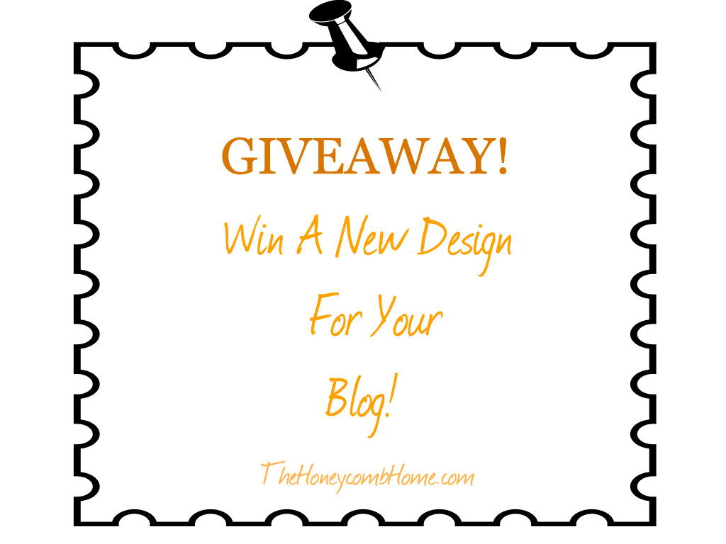 New blog design and a giveaway for New home giveaway