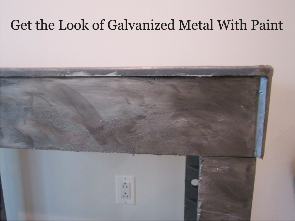 Galvanized finish for How to make metallic paint