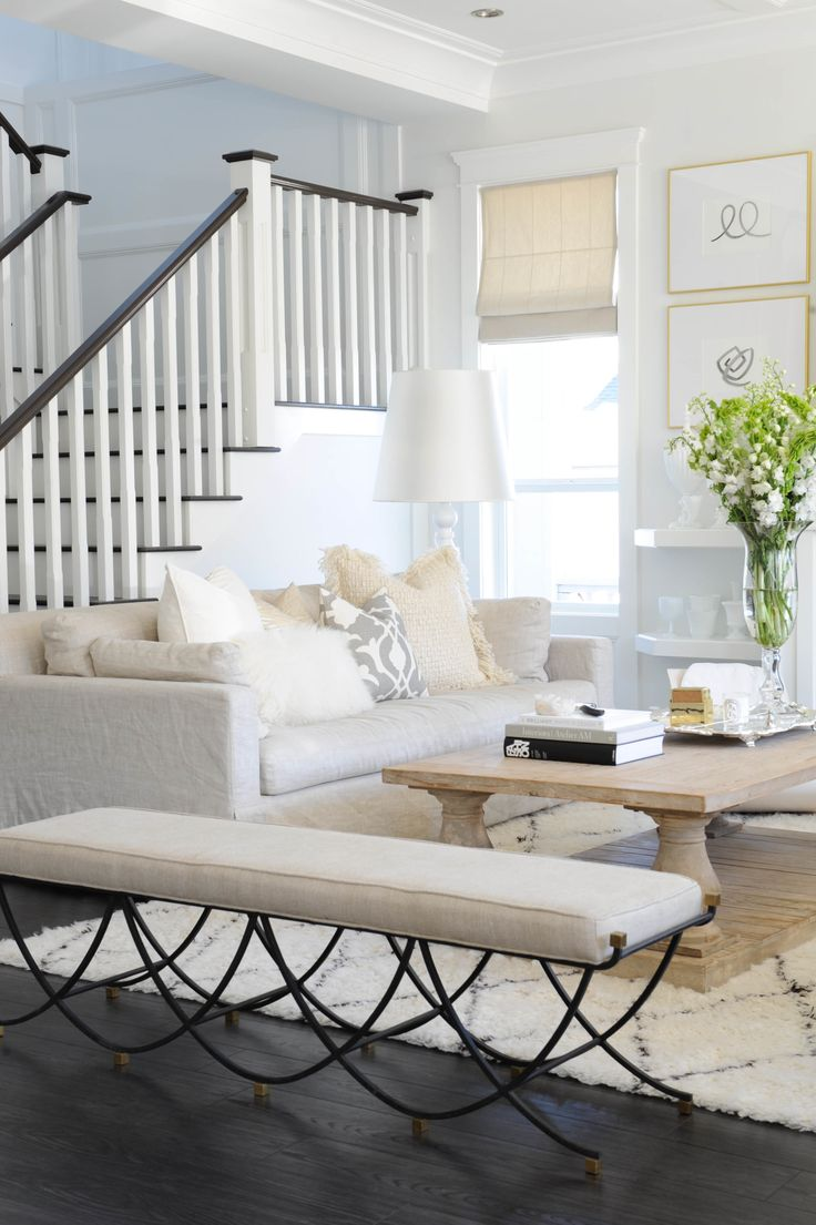 beautiful and bright entry way - white interiors