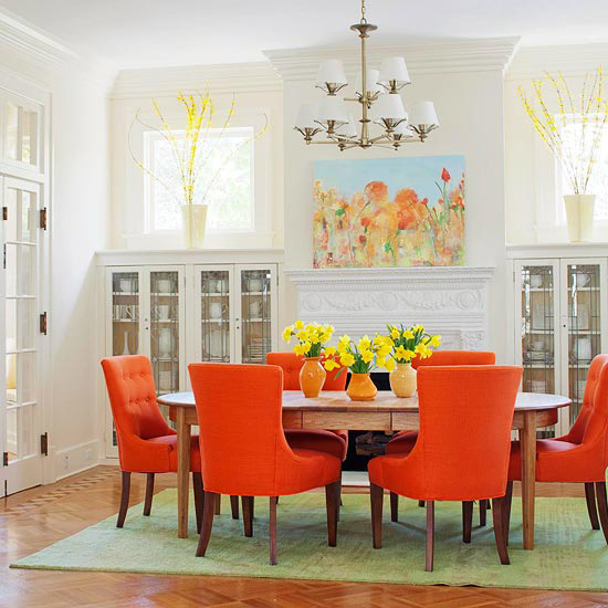 Bright Orange Chairs