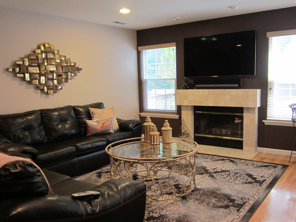 accent wall pictures living room tour this townhome 18681
