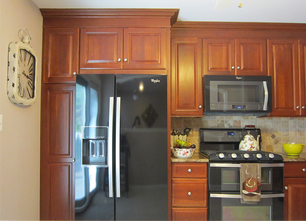 cabinets to the ceiling