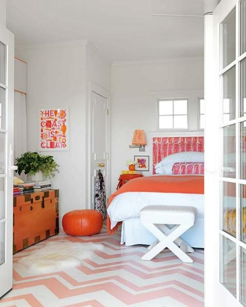 Decorating with orange - Orange accents for bedroom ...