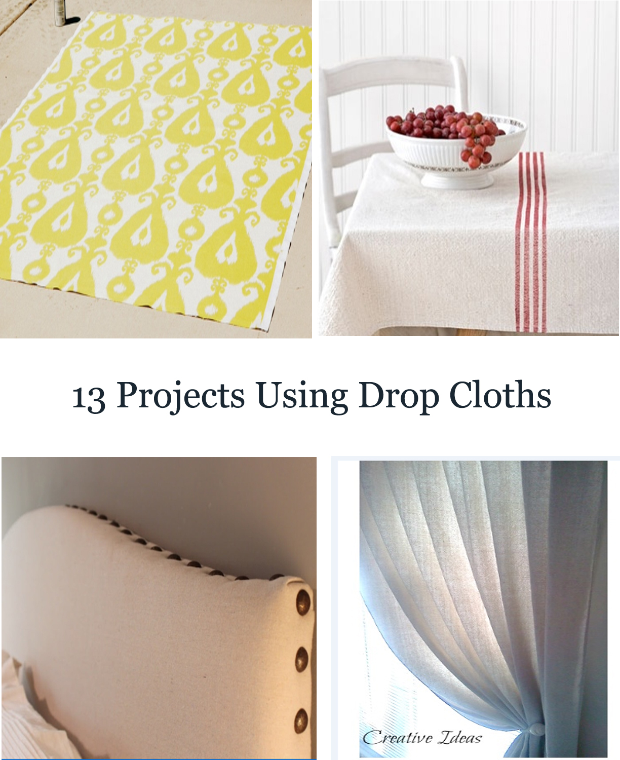 13 projects using drop cloths