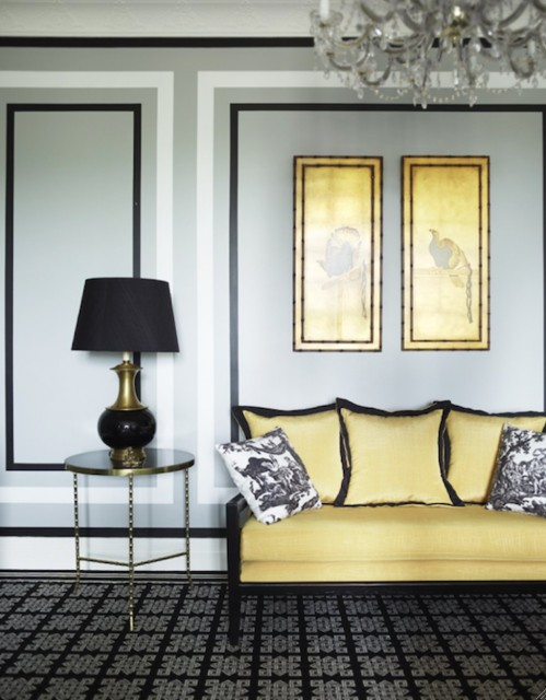 Faux panelling and molding with paint