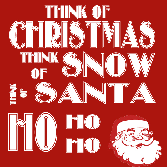 Think of Christmas printable
