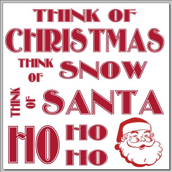 Think of Christmas Printable