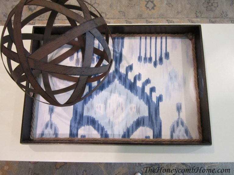 Fabric Lined Serving Tray