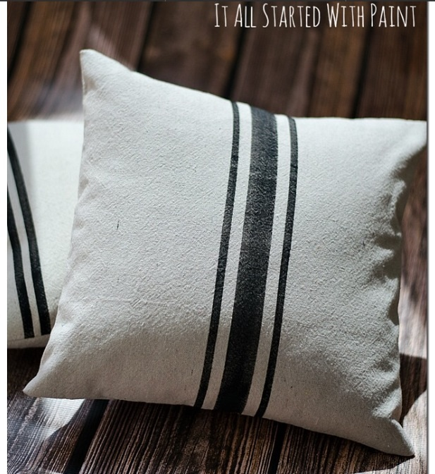 Pillows from drop cloth