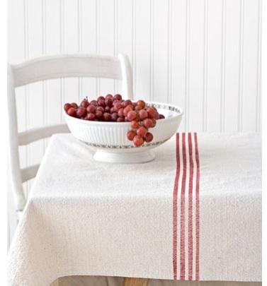 Drop cloth tablecloth