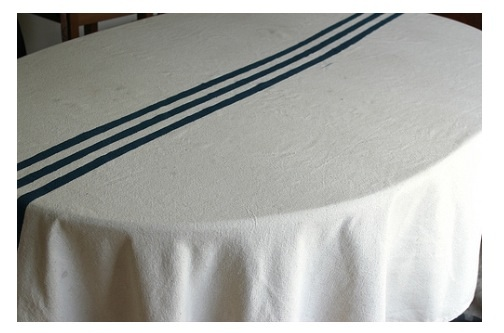 DIY grainsack tablecloth
