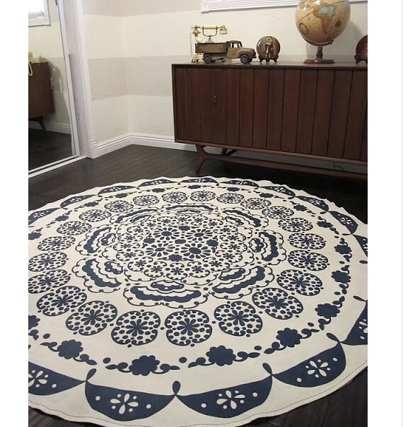 Rug from tablecloth