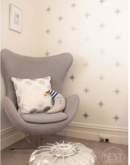 Accent wall decals