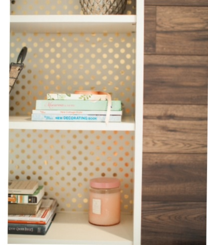 Polka dot lines shelves