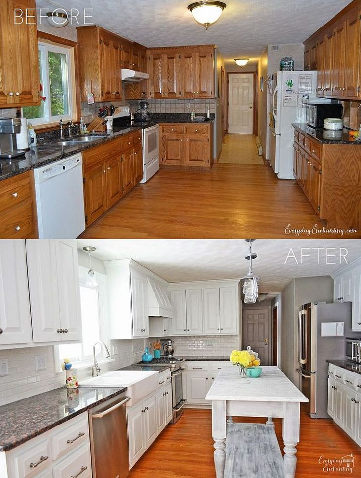 kitchen makeover with paint