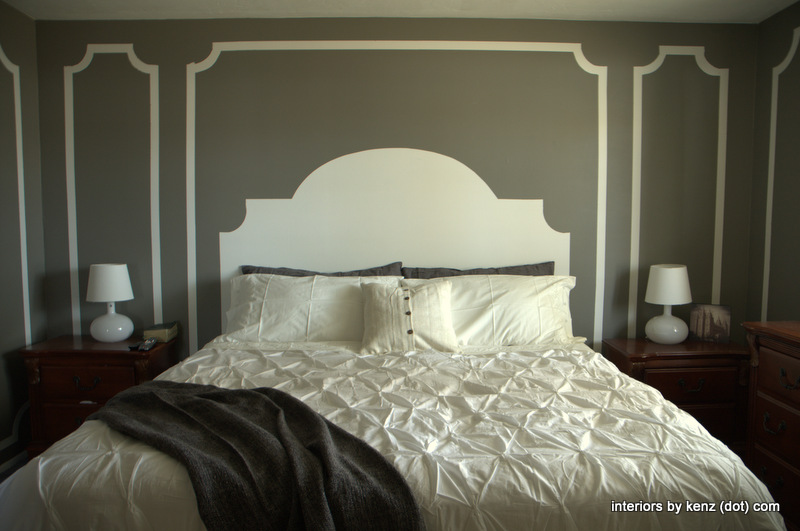 Diy wall art archives the honeycomb home for Painted on headboard
