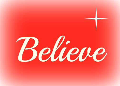 Believe 7X5 printable
