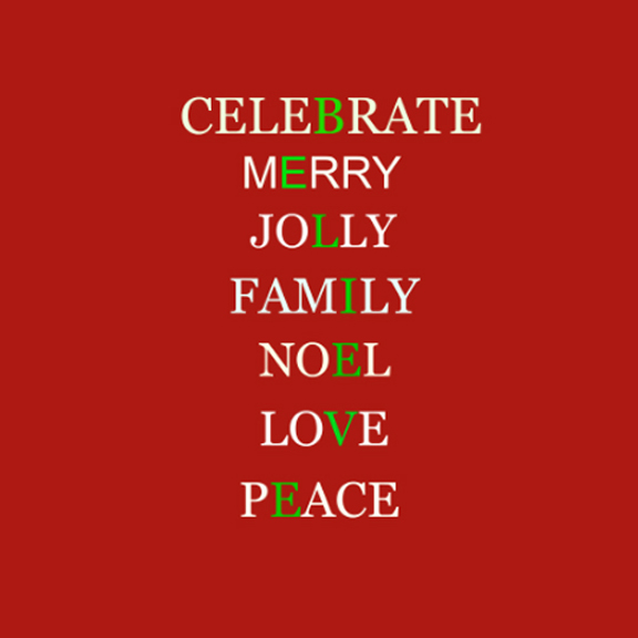 Celebrate Christmas printable