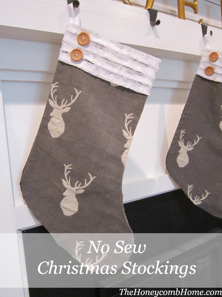No sew christmas stocking for Easy christmas crafts to sew