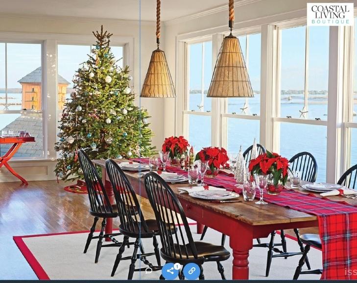 Seaside Christmas Dining Room