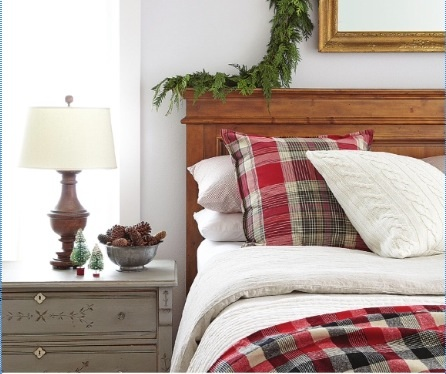 Christmas guest room