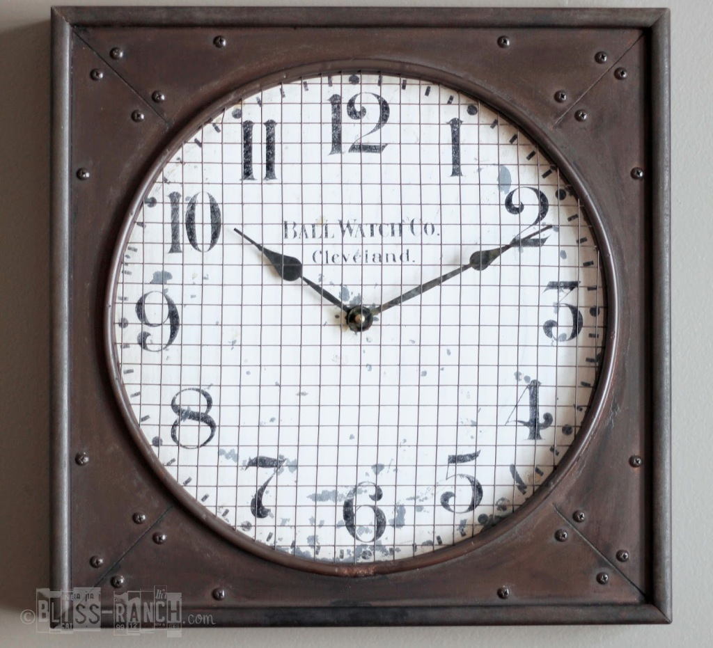 Knock Off Restoration Hardware Clock