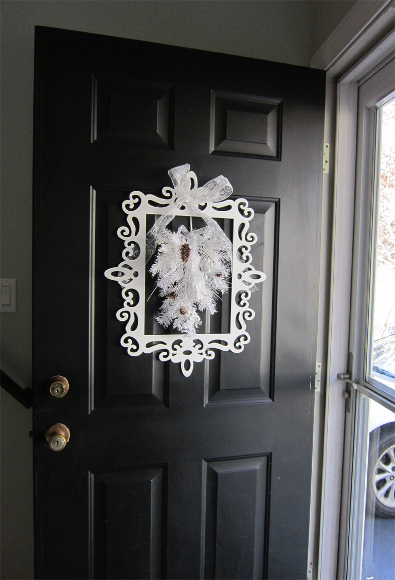 Winter door decor for Front door decor