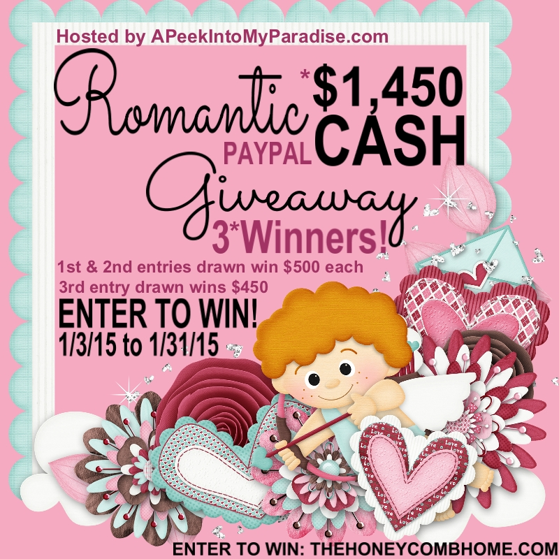 Romantic Cash Giveaway Graphic
