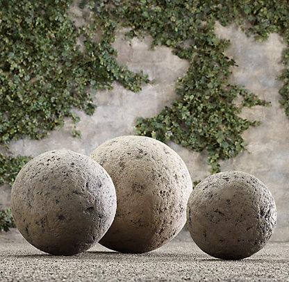 restoration hardware stone garden spheres