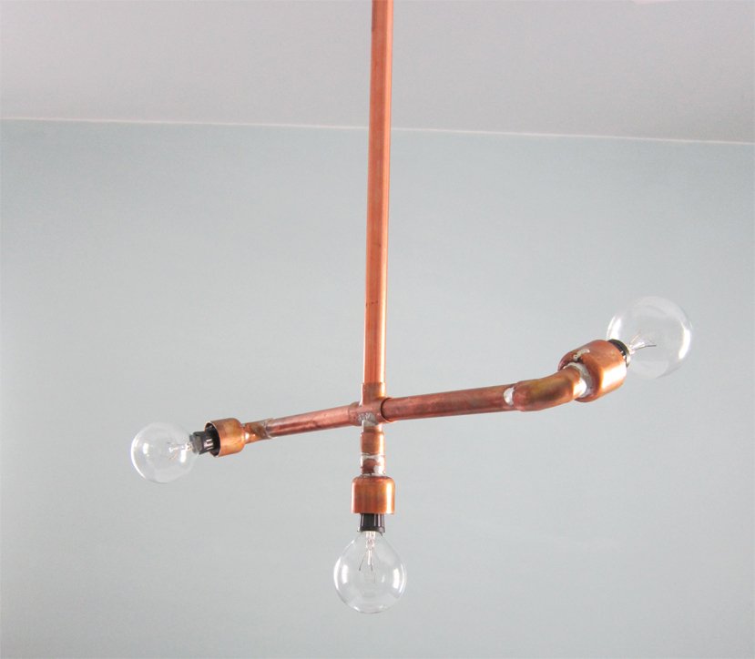 Diy copper light fixture for A lamp and fixture