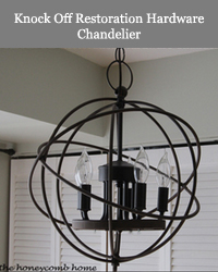 Knock Off Restoration hardware chandelier