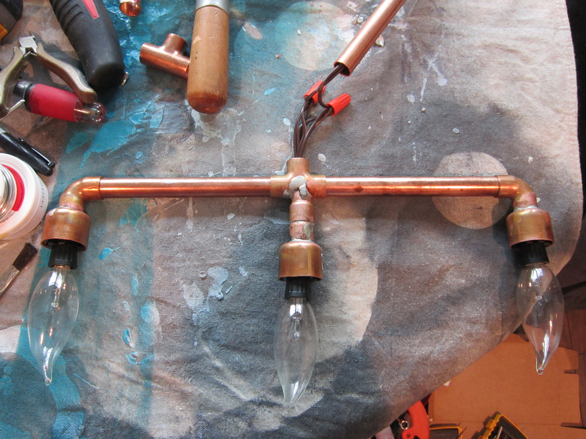 DIY Copper Light Fixture