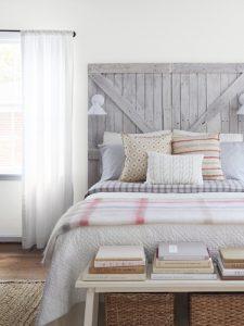 reclaimed headboard bedroom