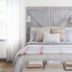 reclaimed headboard bedroom
