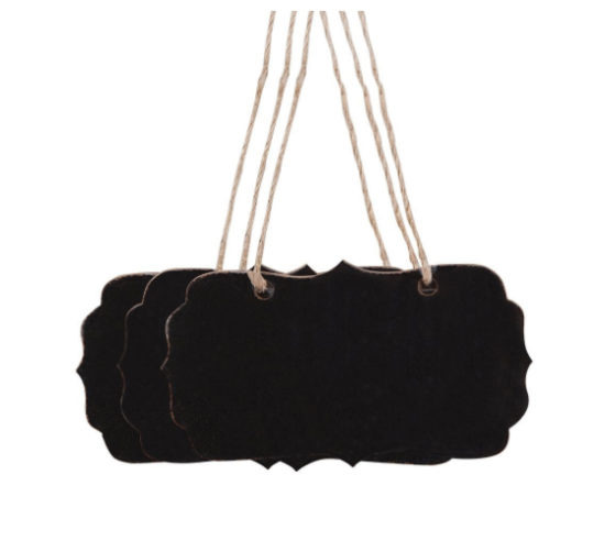 chalkboard tags with hangers