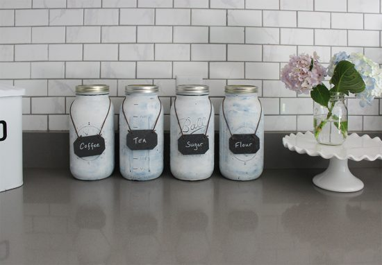how to make your own kitchen canisters, love these because they fit alot without taking up much space