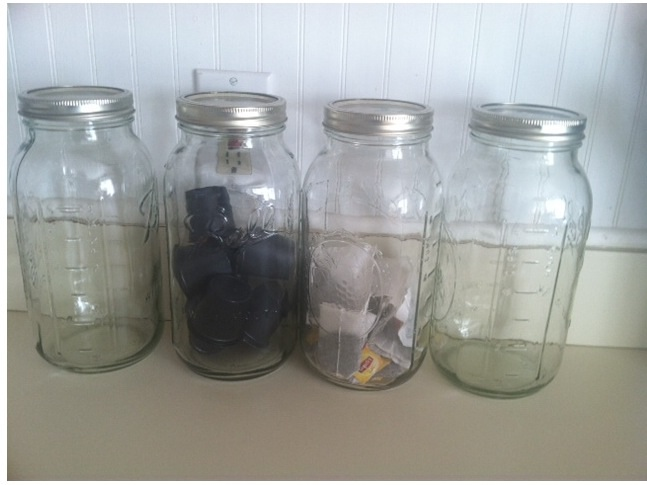 Mason jars before