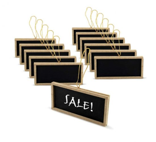 mini chalkboards with hangers