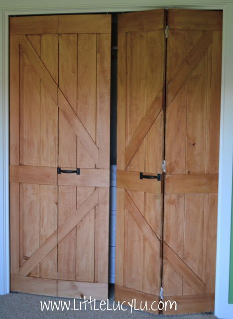 unfinished barn doors