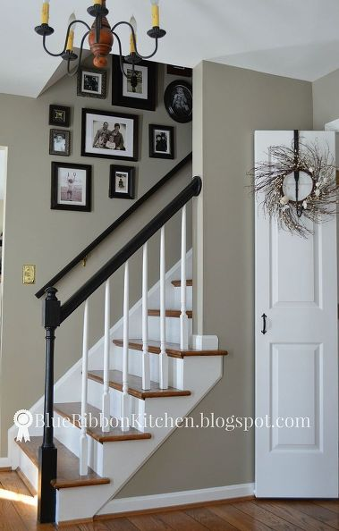 Gray Foyer Colors : Staircase makeover